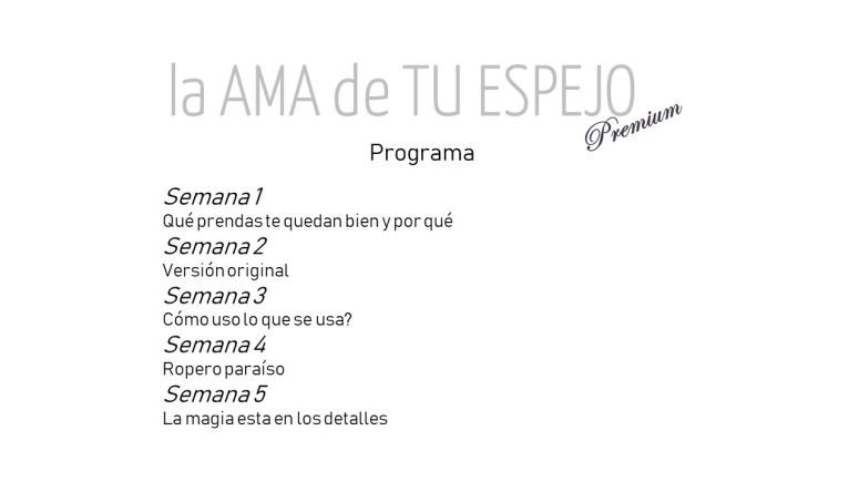 La AMA de TU ESPEJO Premium. Portada 3